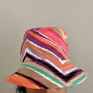 🧡Trina Turk💜Multicolor striped Hat Fits all